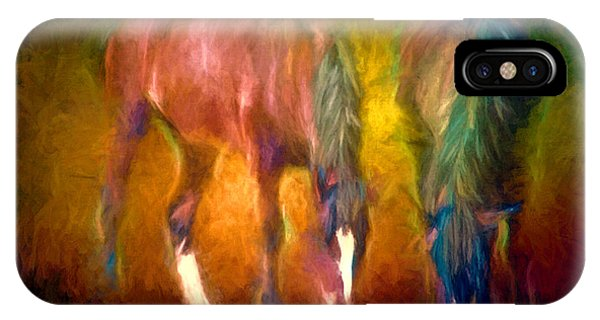 Grazing Horses Version 2 Textured IPhone Case