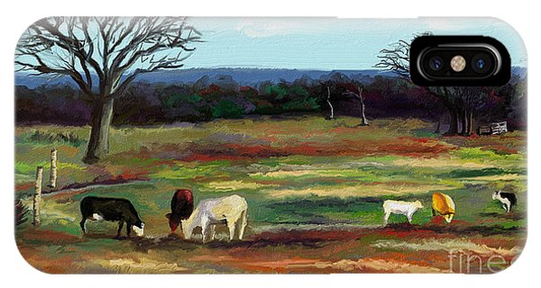 Grazing In The Pasture Phone Case by Sandra Aguirre
