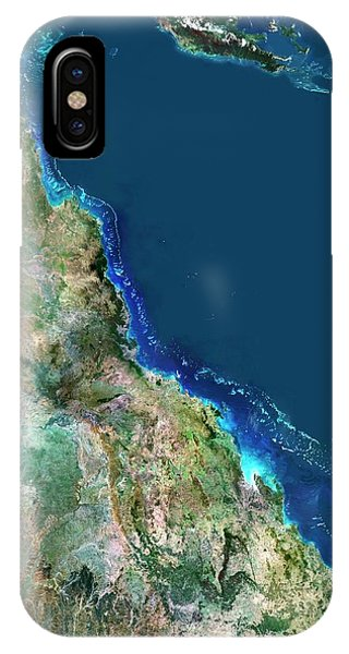 Barrier Reef iPhone Case - Great Barrier Reef by Planetobserver/science Photo Library