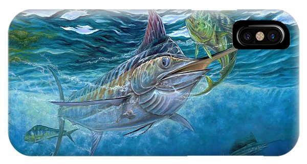 Great Blue And Mahi Mahi Underwater IPhone Case