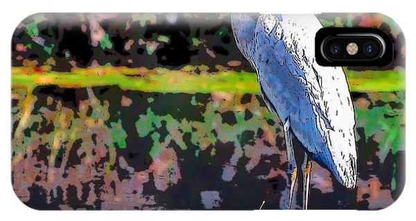 Great Blue Heron At The Pond IPhone Case