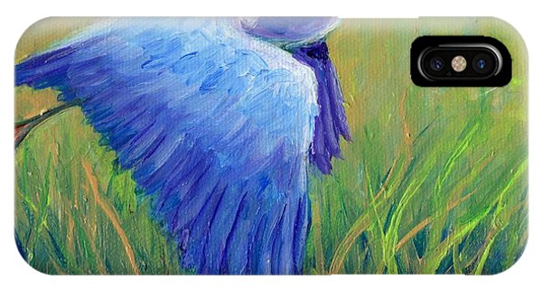 Great Blue Heron Mini Painting IPhone Case