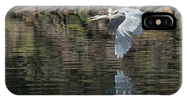 Great Blue Heron Reflections IPhone Case
