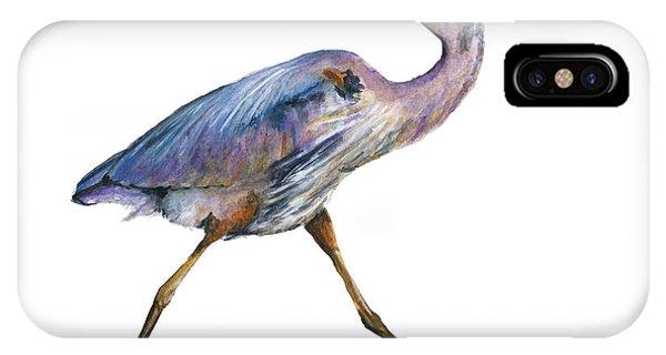 Great Blue Heron Strolling Phone Case by Carlo Ghirardelli