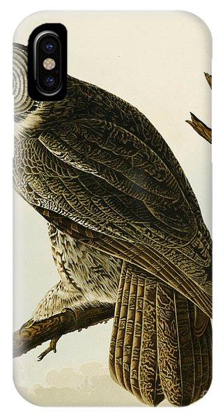 Audubon iPhone X Case - Great Cinereous Owl by John James Audubon