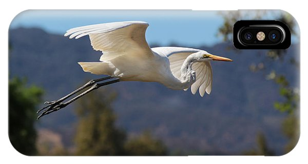Great Egret 11x14 IPhone Case