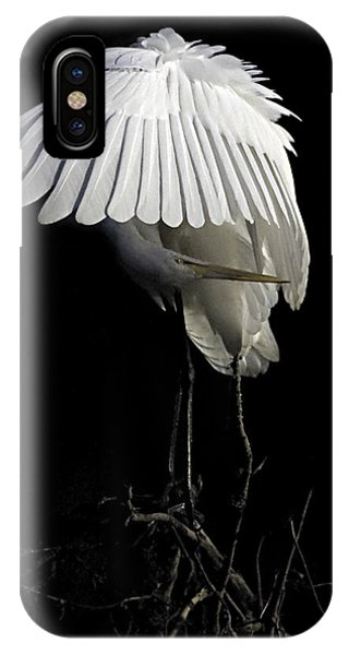 Great Egret Bowing IPhone Case