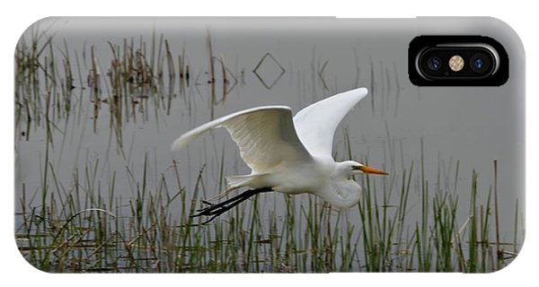 Great Egret Flying IPhone Case