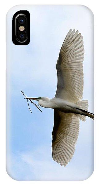 Great Egret In Flight IPhone Case