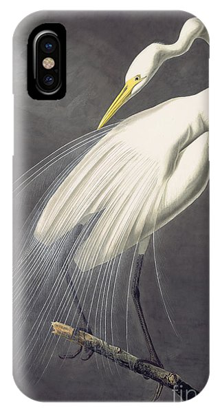 IPhone Case featuring the painting Great Egret  by Celestial Images