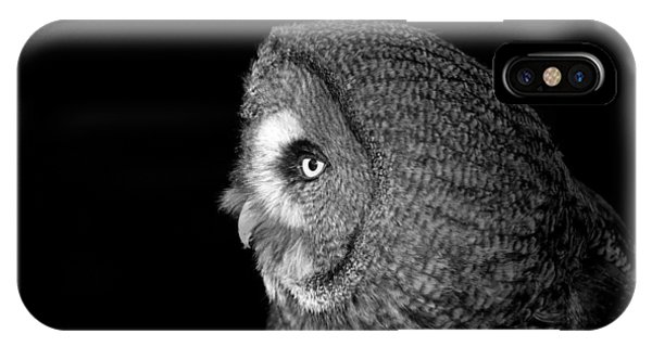 Great Grey Owl 6 Phone Case by Simon Gregory