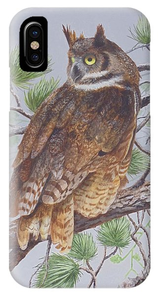 Great Horned Owl Phone Case by James Lawler