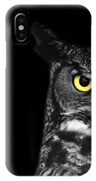 Horn iPhone Case - Great Horned Owl Photo by Stephanie McDowell