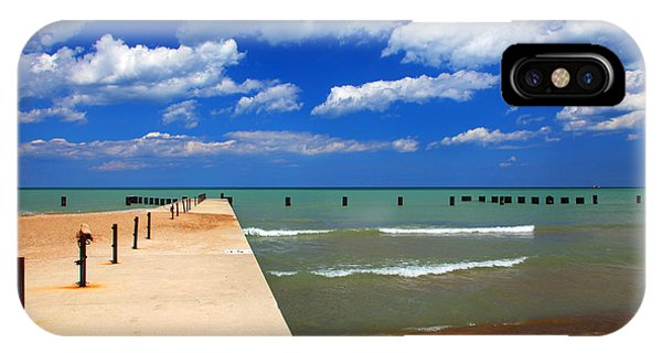 Great Lake Horizon Clouds IPhone Case