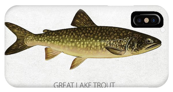 Lake Superior iPhone Case - Great Lake Trout by Aged Pixel