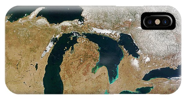 Lake Superior iPhone Case - Great Lakes by Nasa/science Photo Library