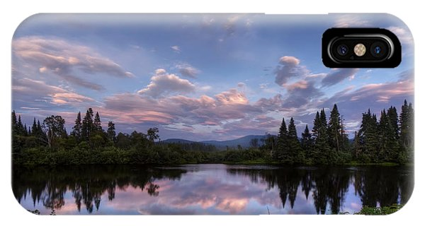 Great North Woods Sunset In New Hampshire IPhone Case