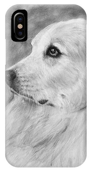 Great Pyrenees In Profile Drawing IPhone Case