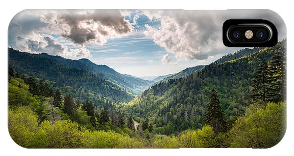 Great Smoky Mountains Landscape Photography - Spring At Mortons Overlook IPhone Case