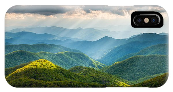 Beams iPhone Case - Great Smoky Mountains National Park Nc Western North Carolina by Dave Allen
