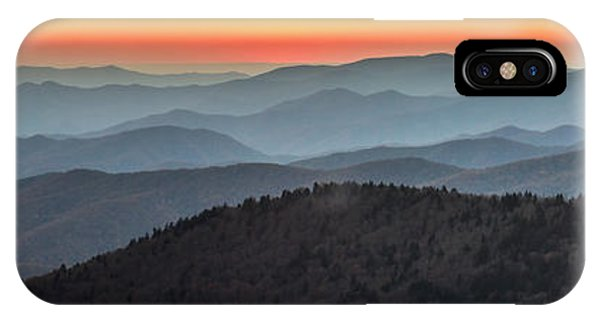 IPhone Case featuring the photograph Great Smoky Mountains National Park Sunset by Pierre Leclerc Photography