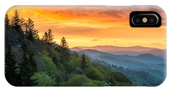 Great Smoky Mountains North Carolina Scenic Landscape Cherokee Rising IPhone Case