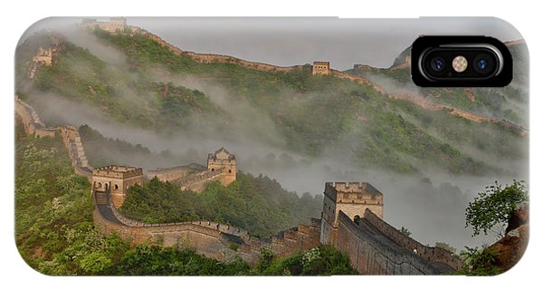 Great Wall Of China On A Foggy Morning Phone Case by Darrell Gulin