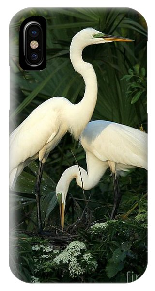 Great White Egret Mates IPhone Case