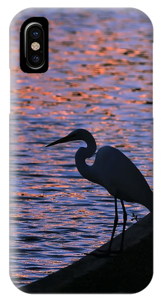 Great White Egret Silhouette  IPhone Case