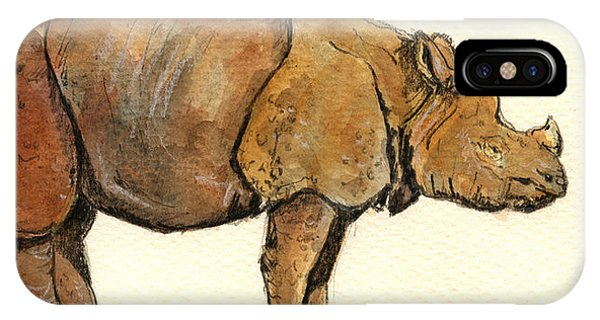 Greated One Horned Rhinoceros IPhone Case