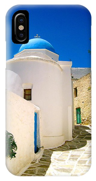 Religious iPhone Case - Greek Blue  by Emma  Heidemann