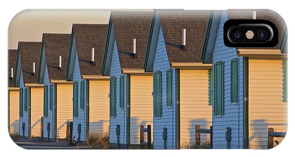 Green And White Cottages Of Truro IPhone Case