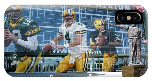 Players iPhone Case - Green Bay Packers Lambeau Field by Joe Hamilton