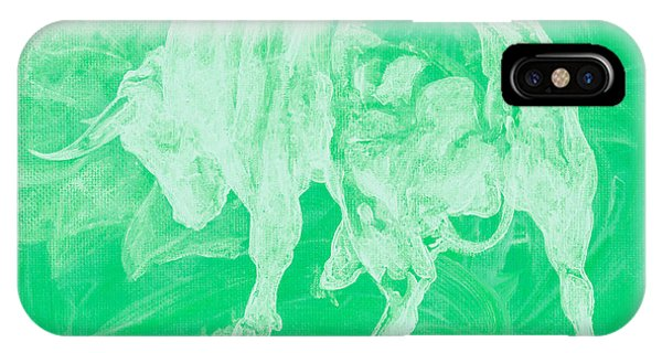 Green Bull Negative IPhone Case