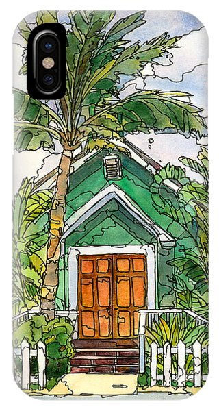 Hawaiian Sunset iPhone Case - Green Church by Stacy Vosberg