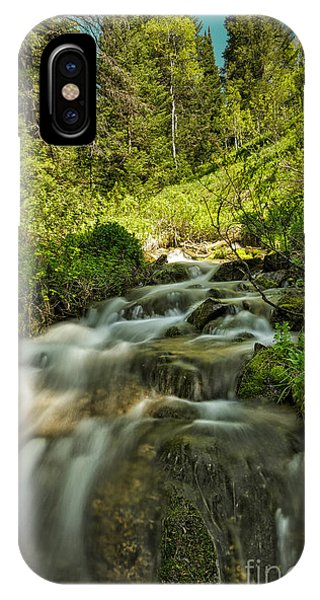 Green Colors And A Stream Phone Case by Mitch Johanson
