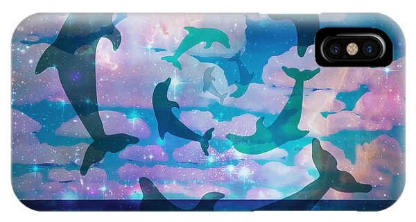 Green Dolphin Dance IPhone Case
