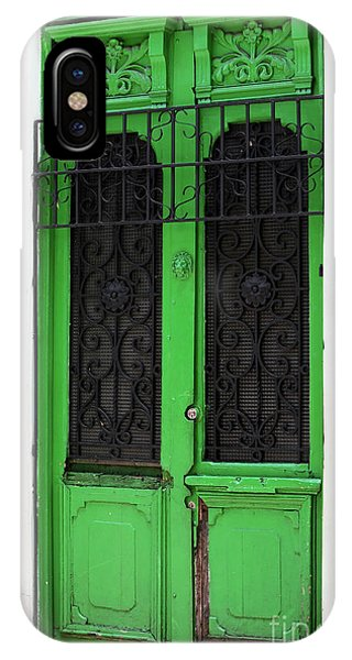 Green Door In Bogota IPhone Case