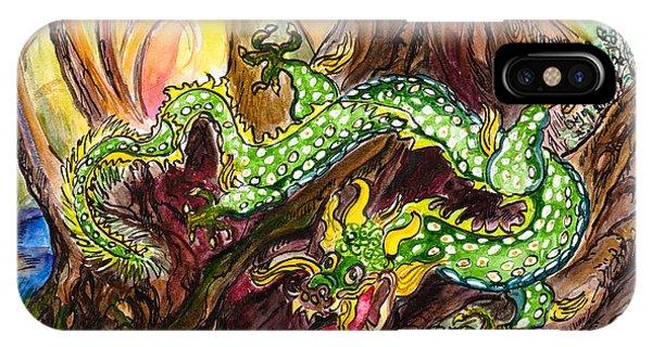 Green Earth Dragon IPhone Case