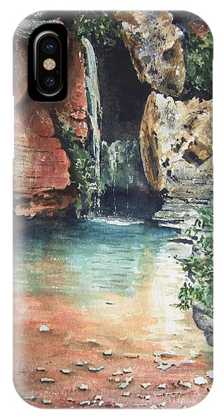 Grand Canyon iPhone Case - Green Falls by Sam Sidders