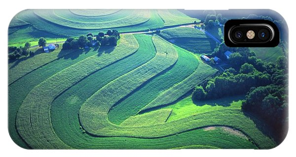 Green Farm Contours Aerial Phone Case by Blair Seitz
