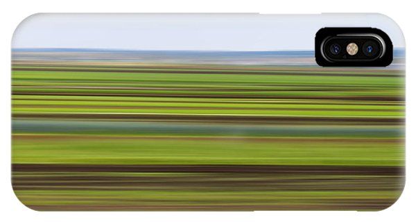 Green Field Abstract IPhone Case