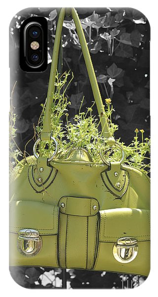 Green Flower Bag IPhone Case