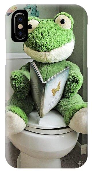Toilet iPhone Case - Green Frog Potty Training - Photo Art by Ella Kaye Dickey