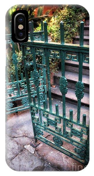 Green Gate Of Savannah Phone Case by John Rizzuto