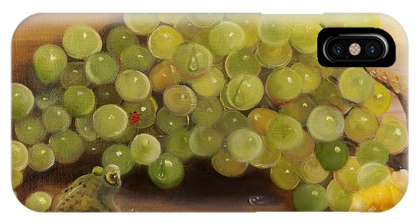 Green Grapes Green Frog IPhone Case