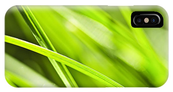 Sunny iPhone Case - Green Grass Abstract by Elena Elisseeva