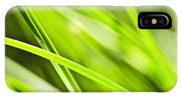 Greenery iPhone Case - Green Grass Abstract by Elena Elisseeva