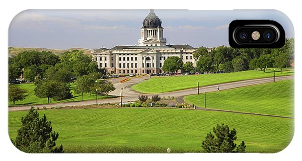 Capitol Building iPhone Case - Green Grass Of Park Leading To South by Panoramic Images