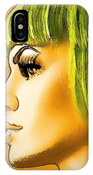 Green Hair IPhone Case